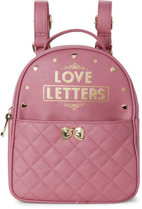 Betsey Johnson Two-Piece Blush Love Letters Backpack