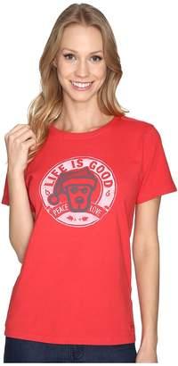 Life is Good Rocket Santa Peace Love Crusher Tee Women's T Shirt