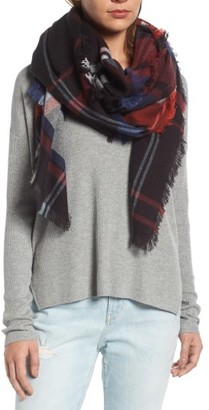 Women's Treasure & Bond Heritage Plaid Blanket Wrap $45 thestylecure.com