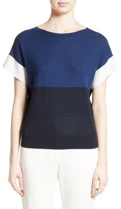 Women's Max Mara Colimbo Silk & Cashmere Top $575 thestylecure.com