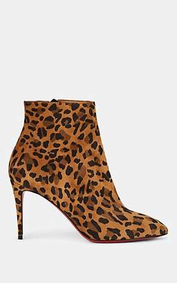 Christian Louboutin Women's Eloise Leopard-Print Suede Ankle Boots - Caramel