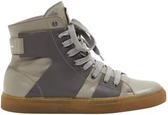 Marc Jacobs Grey Leather Trainers