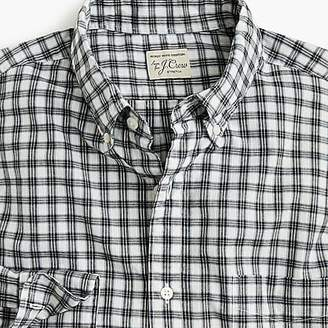J.Crew Stretch Secret Wash shirt in heather poplin check