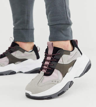 Asos Design DESIGN Wide Fit sneakers in color pop with chunky sole