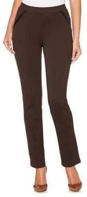 Rafaella Petite Ponte Comfort-Fit Slim-Leg Pants