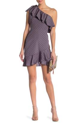 J.o.a. Polkadot One Shoulder Dress