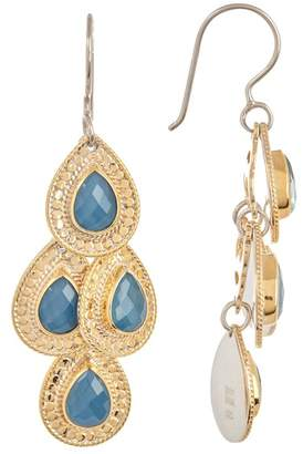 Anna Beck 18K Gold Plated Blue Quartz Chandelier Earrings