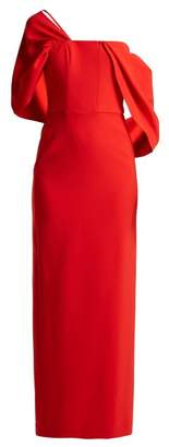 Osman Adalyn Off The Shoulder Crepe Gown - Womens - Red