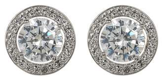 Nadri Crystal Halo Stud Earrings