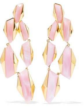 Noir Sparks Fly 14-Karat Gold-Plated Resin Earrings