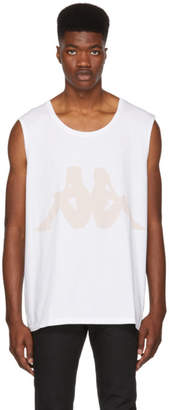 Faith Connexion White Kappa Edition Sleeveless T-Shirt