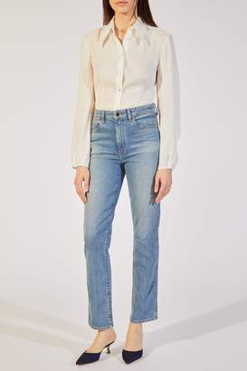 KHAITE The Victoria Jean in Vintage Blue
