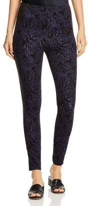 Lysse Kent Printed Faux-Leather-Trim Leggings