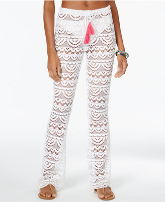 Miken Scalloped Crochet Cover-Up Pants Women's Swimsuit $28 thestylecure.com