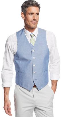 Lauren Ralph Lauren Blue Chambray Vest $95 thestylecure.com