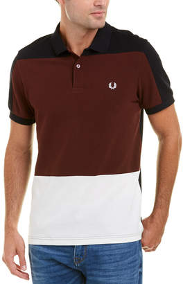 Fred Perry Paneled Pique Polo Shirt