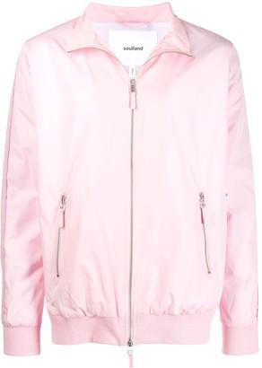 Soulland zipped bomber jacket