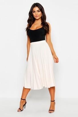 9856fd9c97344f Nude Pleated Maxi Skirt - ShopStyle UK