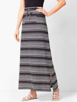 Talbots Patch-Pocket Stripe Maxi Skirt