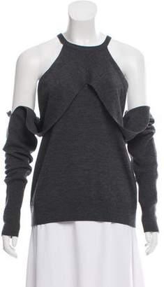 Dion Lee Cold-Shoulder Knit Sweater