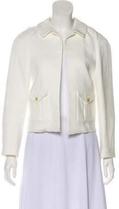 Joseph Linen-Blend Open Front Jacket