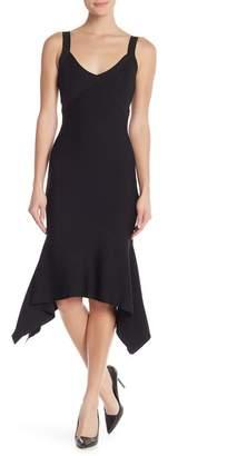 Rachel Roy Katherine Knit Strappy Sharkbite Midi Dress