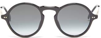 Givenchy Round Acetate Sunglasses - Mens - Black