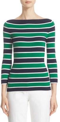 Women's Michael Kors Stripe Cashmere Sweater $1,195 thestylecure.com