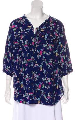 Rebecca Taylor Silk Floral Top