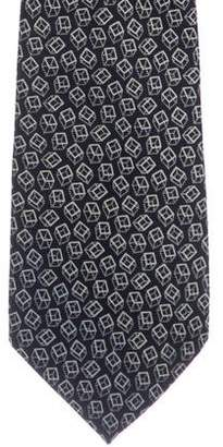 Tiffany & Co. Cube Print Silk Tie