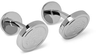 Mulberry Engraved Silver-Tone Cufflinks
