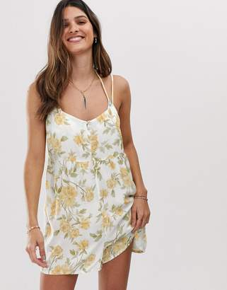 rhythm Sienna romper in lemon floral