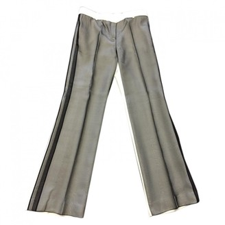 Celine Grey Silk Trousers