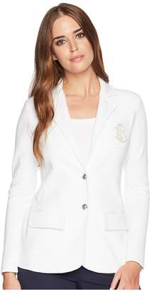 Lauren Ralph Lauren Bullion-Crest Knit Blazer Women's Jacket