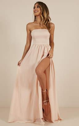 Showpo Love Bound Maxi Dress in champagne - 14 (XL) Engagement