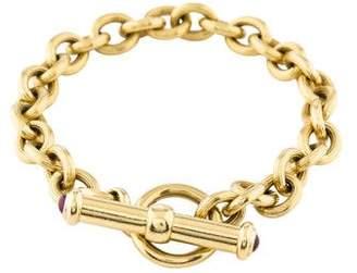 Bracelet 18K Ruby Cabochon Clasp Link Bracelet