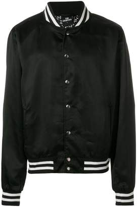 Les (Art)ists striped trim bomber jacket
