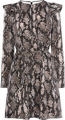 Karen Millen Snakeskin Print Mini Dress