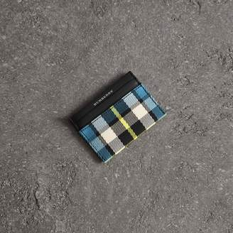 Burberry Tartan Check and Leather Card Case