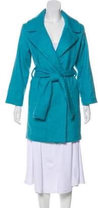 Diane von Furstenberg Wool-Blend Belted Coat