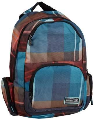 Brunotti Women's Backpack Functional Gradient Check Navy Backpack Handbags