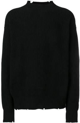 MSGM ribbed raw sweater