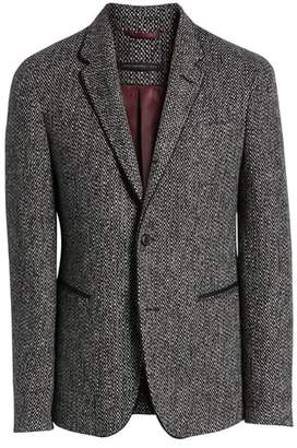 John Varvatos Piped Tweed Wool Blend Sport Coat