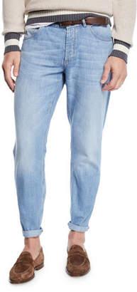 Brunello Cucinelli Men's Super Lightweight Denim Jeans