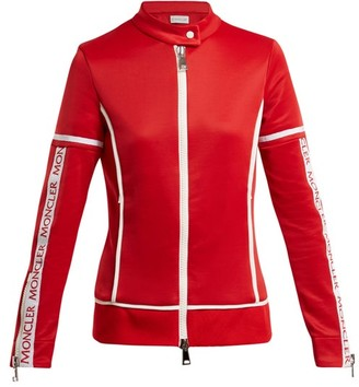 Moncler Jersey Stretch Track Top - Womens - Red