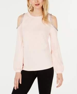 INC International Concepts I.n.c. Embellished Cold-Shoulder Sweatshirt, Created for Macy's