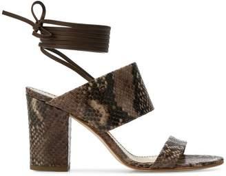 Antonio Barbato snakeskin effect lace up sandals