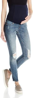 Ingrid & Isabel Women's Maternity Sasha Skinny Jean with Crossover Panel