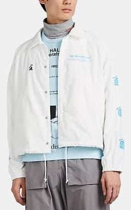 "Undercover Men's ""Human Error"" Coach's Jacket - White"