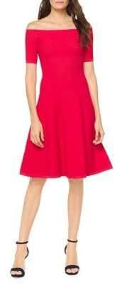 MICHAEL Michael Kors Textured Off-The-Shoulder Fit-&-Flare Dress